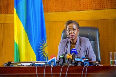 La ministre rwandaise des Affaires étrangères, Louise Mushikiwabo
