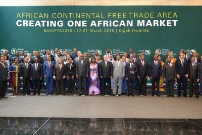 Sommet extraordinaire des chefs d'état membres sur la Zone de libre-échange continentale africaine à Kigali