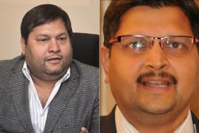 Left: Ajay Gupta. Right: Atul Gupta.