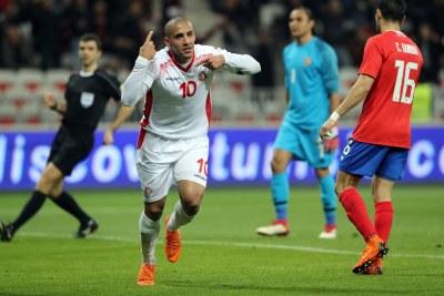 Wahbi Khazri , attaquant  tunisien du Stade Rennais