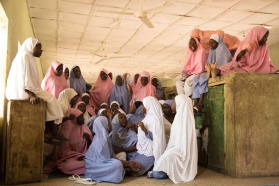 The Dapchi students went back to school after they were kidnapped (file photo).