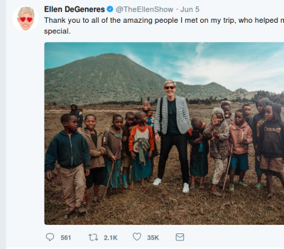 Was This Ellen DeGeneres Photo With Rwandan Children Poverty Porn?