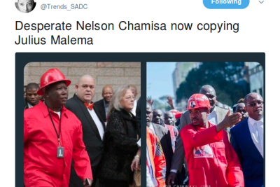 Zimbabwe Politician Chamisa Takes Heat on Twitter for Dressing Like Malema