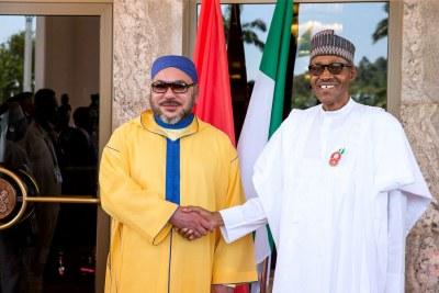President Muhammadu Buhari and King Mohammed VI.
