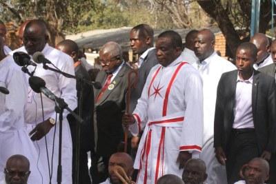 President Emmerson Mnangagwa attends Johane Marange Apostolic Church service.