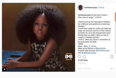 Five-year-old Nigerian is 'World's Most Beautiful Girl'