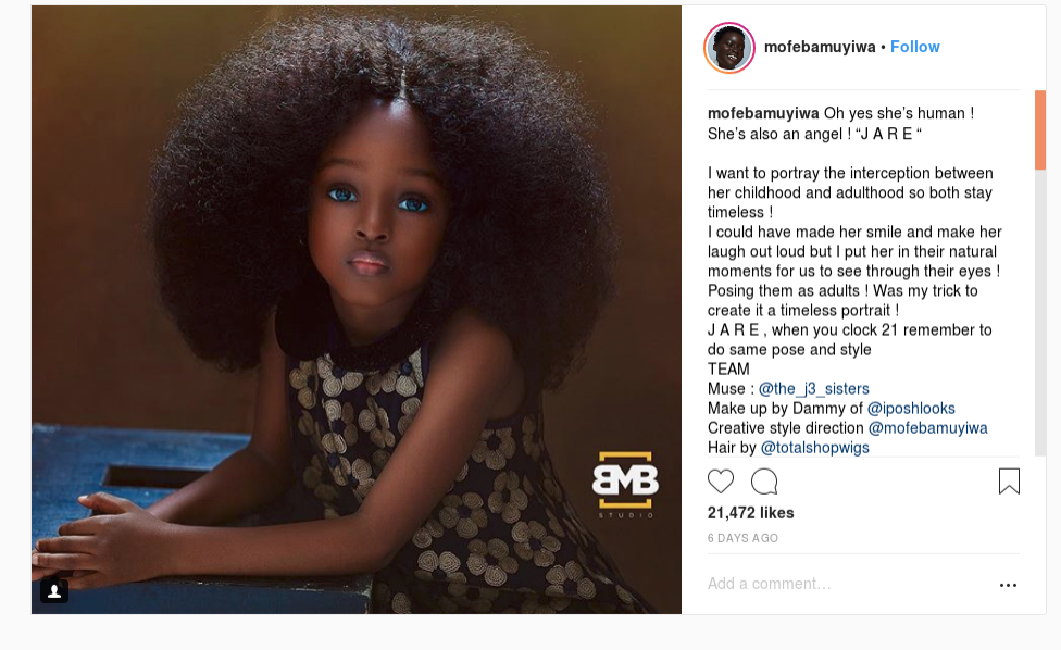 Nigerian Five-Year-Old Hailed As Worlds Most Beautiful -7916