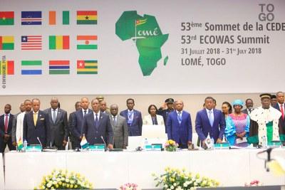 53e sommet de la CEDEAO à Lomé.