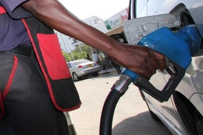 A motorist refuels at Kenol Kobil.