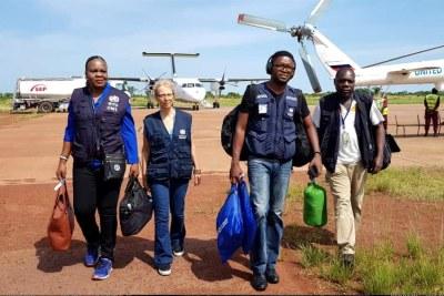 WHO team in Democratic Republic of the Congo (file photo).