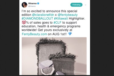 Fenty Beauty launches a highlighter for a great cause.