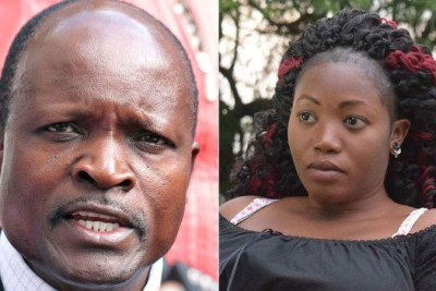 Governor Okoth Obado and murdered Rongo University student Sharon Otieno. (file photo)