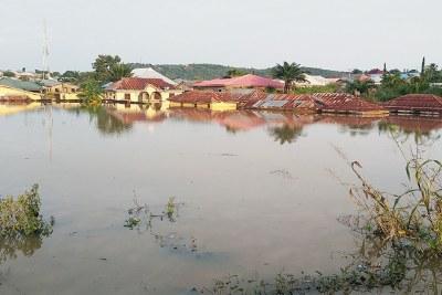Rising flood in Lokoja in flood-ravaged Kogi state.