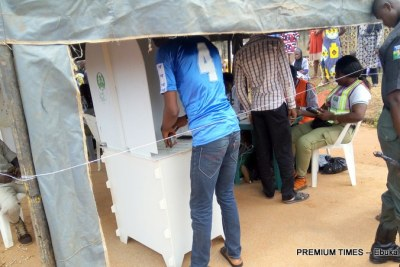 Voting in the Osun governorship election, which was declared 'inconclusive' by INEC.