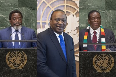 Presidents Kabila, Kenyatta and Mnangagwa.