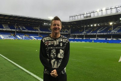 Gor Mahia coach Dylan Kerr at the Everton ground.