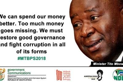 Finance Minister Tito Mboweni...