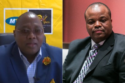 Left: MTN CEO and eSwatini Prime Minister Ambrose Dlamini. Right: King Mswati III.