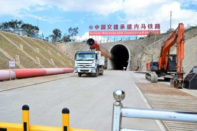 The standard gauge railway (SGR) Nairobi-Naivasha tunnel