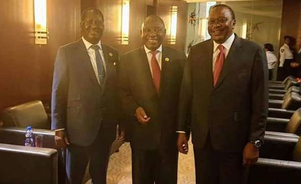 Kenyatta, Odinga 'Tour the World' Together For The First Time