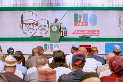 President Muhammadu Buhari at his re-election campaign launch.