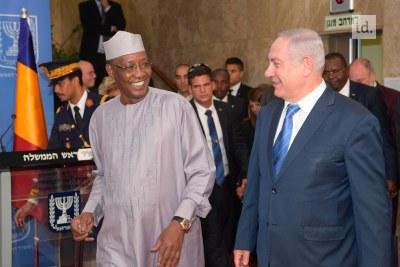 Idriss Deby et Benjamin Netanyahu dimanche à Jérusalem