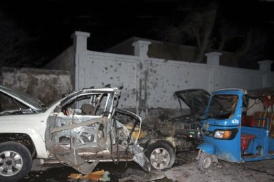 A bombing in the Somali capital of Mogadishu (file photo).