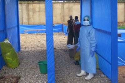 Ebola treatment center in Nord-Kivu,
