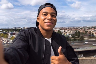 Football star Kylian Mbappe (file photo).