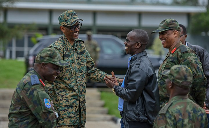 Rwanda's Kagame Commends Army For Bravery, Dedication