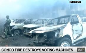 Fire Guts DR Congo's Electoral Commission Building