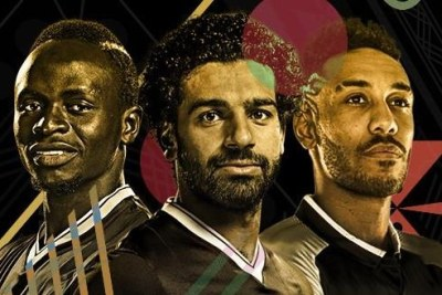 (From left) Sadio Mané, Mohamed Salah et Pierre-Emerick Aubameyang.