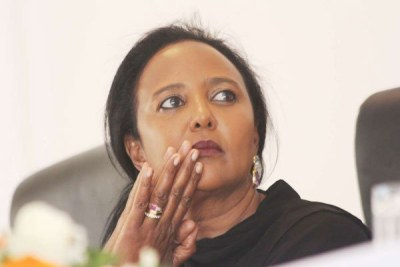 Education Cabinet Secretary Amina Mohamed during a press conference on the reopening of schools and the new curriculum, January 2, 2019.