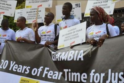 Gambians celebrate Yahya Jammeh's fall