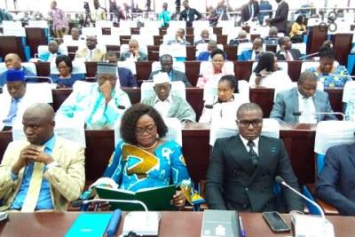 Les députés togolais à l'assemblée nationale