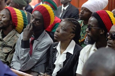Members of the Rastafarian movement at Milimani Law Courts during the hearing of the case before Justice Chacha Mwita on January 29, 2019.