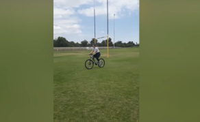 Watch: Namibian Woman's Bicycle Ride Has Everyone Laughing!