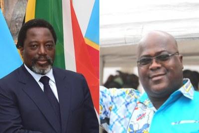 Former president Kabila and President Félix Tshisekedi