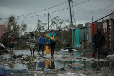 Praia Nova Village was one of the most affected neighborhoods in Beira. Being a located on the coast, this shanty town of loosely built homes were extremely vulnerable to the high winds and rain. Following the cyclone families are returning trying to pick up the pieces of their lives.