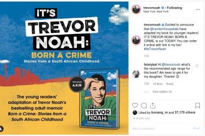 Trevor Noah releases child's version of Born a Crime.