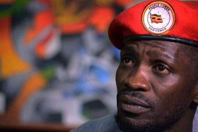 Le député de Kyaddondo Est, Robert Kyagulanyi (également connu sous le nom de Bobi Wine).