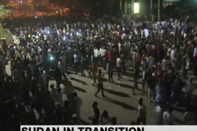 Sudanese demonstrators are calling for an immediate transition to a civilian government that will be in charge for the next four years.