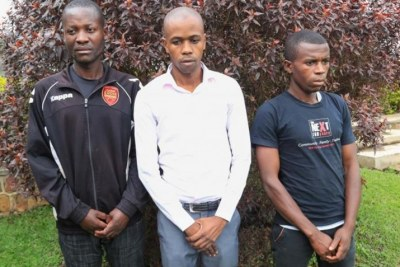 Three Rwandans who were returned to Kigali after enduring torture in Uganda.