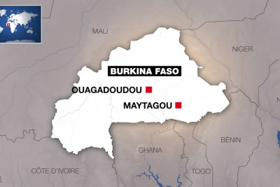 Localisation de Maytagou, au Burkina Faso.