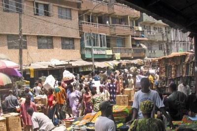 A market in Lagos.
