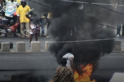 Post-election protests in Benin.