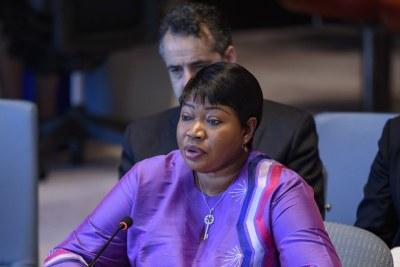 La Procureure de la Cour pénale internationale, Fatou Bensouda, expose la situation en Libye devant le Conseil de sécurité.