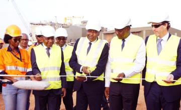 Inauguration de l'usine de la mine d'or d'Ity en Côte d'Ivoire