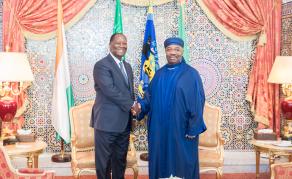 Ali Bongo reçoit son homologue ivoirien Alassane Ouattara au Gabon