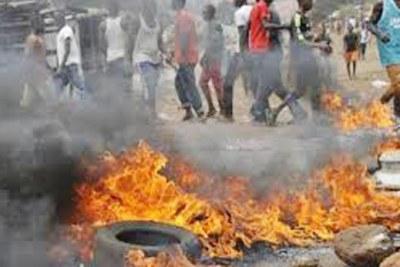 Riots in Guinea (file photo).